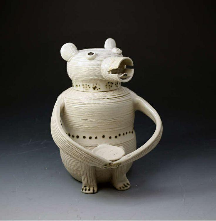 1850s porcelain bear