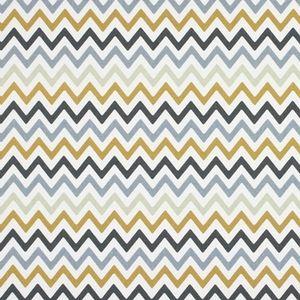 Zag Zig Saffron 100% Cotton 137cm 12cm Curtaining