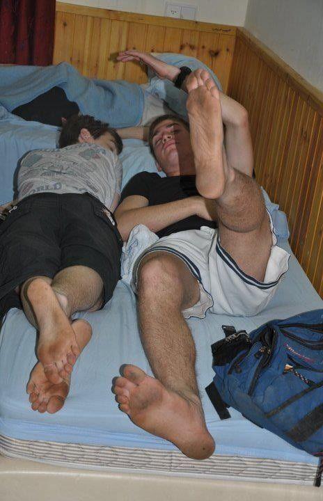 boys with dirty feet