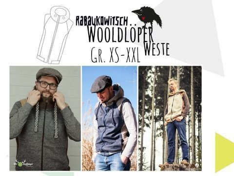 book Wooldlöper Männer Weste Gr. XS-XXL von Rabaukowitsch