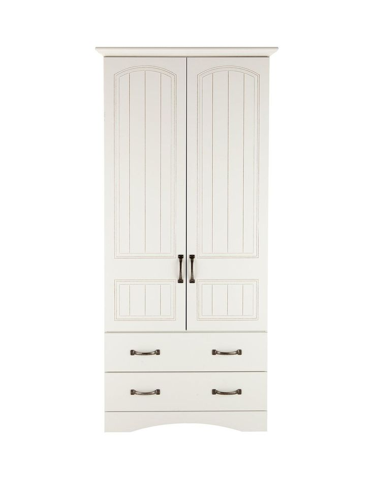 Consort Corby Ready Assembled 2-Door, 2-Drawer Wardrobe in White Consort's new…