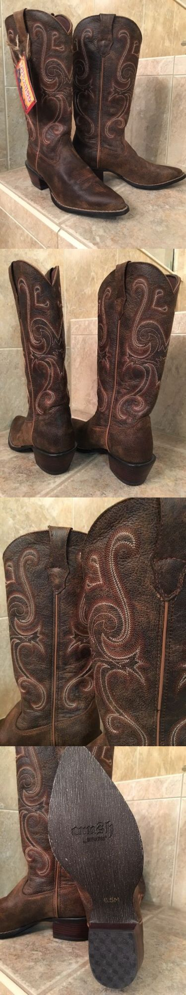 Western Boots 159002: Nwt Leather Crush Durango Boots Women S Size 6.5 -> BUY IT NOW ONLY: $59.99 on eBay!