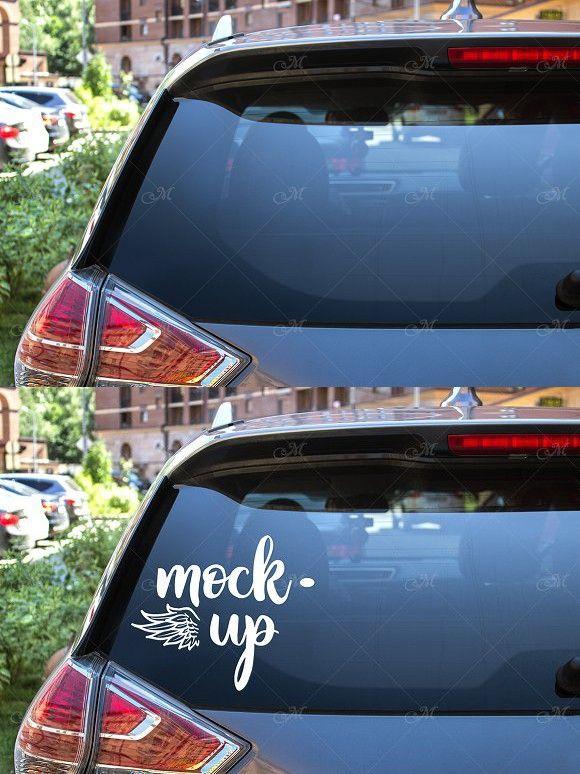 Rear Window Car Mock Up Psd Jpg Rear Window Car Window Car