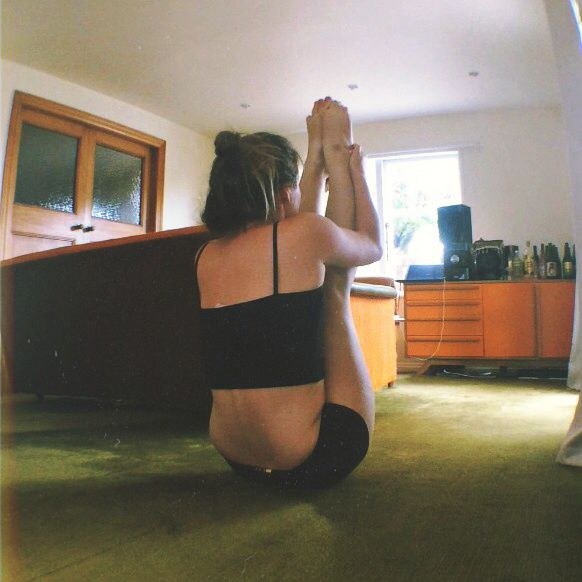 Yoga pose. Flexibility training  Spine  Love