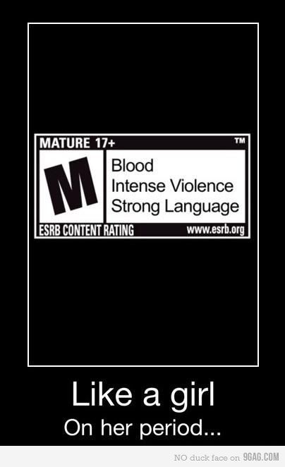 That is why all I do during my period is kill zombies.