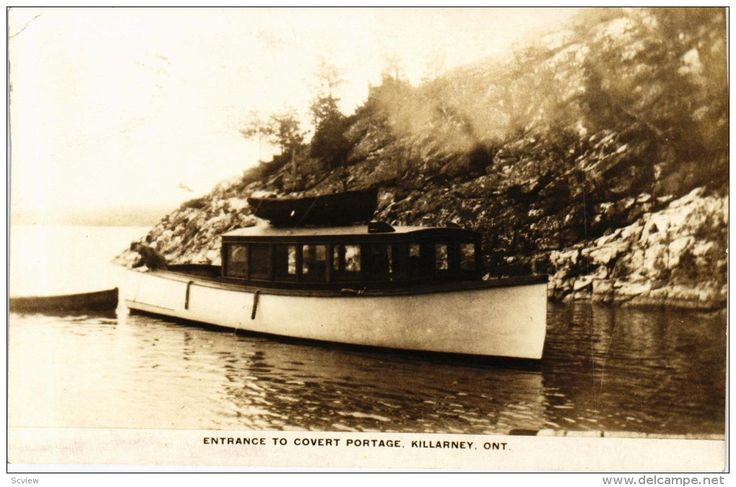 RP: Steamship at entrance to Covert Portage , KILLARNEY , Ontario , Canada , PU-1931