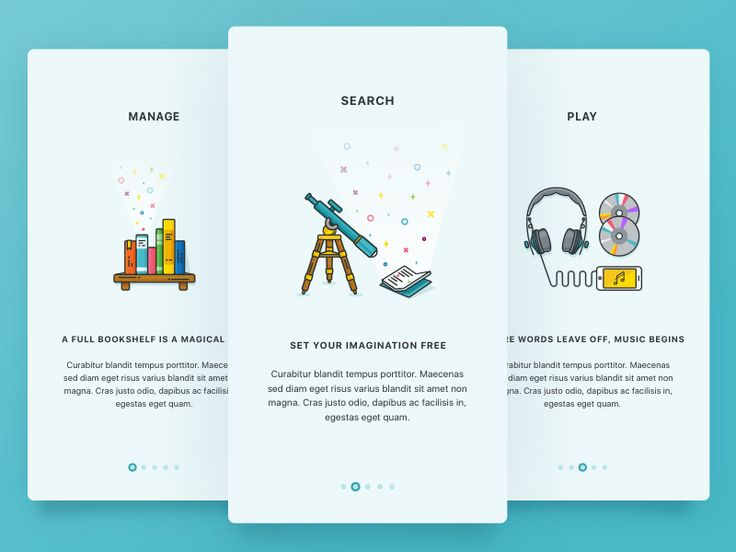 - Mobile Onboarding Cards by Shurvir Mori