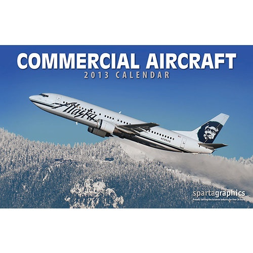 """Commercial Aircraft Wall Calendar: For 2013, Commercial Aircraft features twelve different commercial aircraft types and carriers, from jumbo jets to island-hoppers. This calendar is loaded with great shots of the """"big birds"""" for everyone in the industry.  http://www.calendars.com/Airplanes/Commercial-Aircraft-2013-Deluxe-Wall-Calendar/prod201300005934/?categoryId=cat00685=cat00685#"""