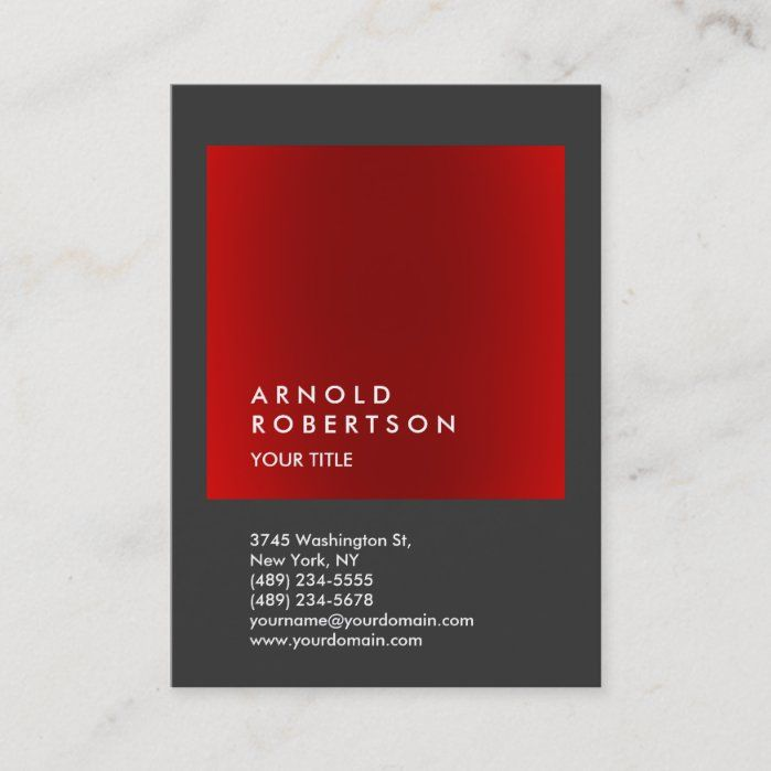 Red Gray Trendy Large Professional Business Card Zazzle Com In 2021 Professional Business Cards Elegant Business Cards Business Card Inspiration