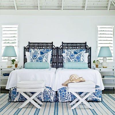 a shore thingGuest Room, Beach House, Beach Bedrooms, Guest Bedrooms, Blue Bedrooms, Twin Beds, Coastal Living, Bedrooms Decor, Beachhouse