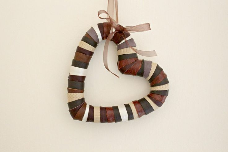 Leather Hanging Heart