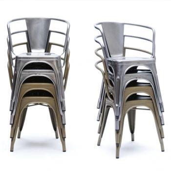 Tolix, A56 chair, metal, gross  Stapelbar, aber benötigt glaub viel Platz...