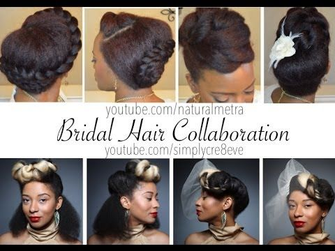 SLEEK CHUNKY TWIST UPDO: This tutorial is one half of the collaboration between Simplycre8eve and Naturalmetra for bridal hair styles.  However, this style does not ...