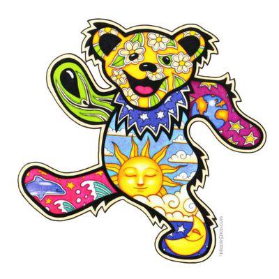 Grateful Dead  Dancing Bear Bumper Sticker