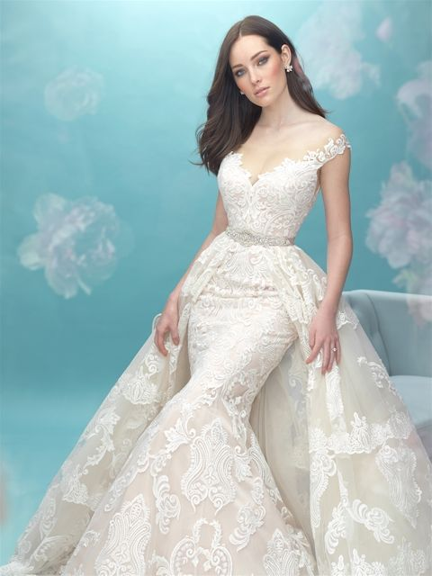 New Bridal Gown Available at Ella Park Bridal | Newburgh, IN | 812.853.1800 | Allure Bridals - Style 9474T with Detachable Train