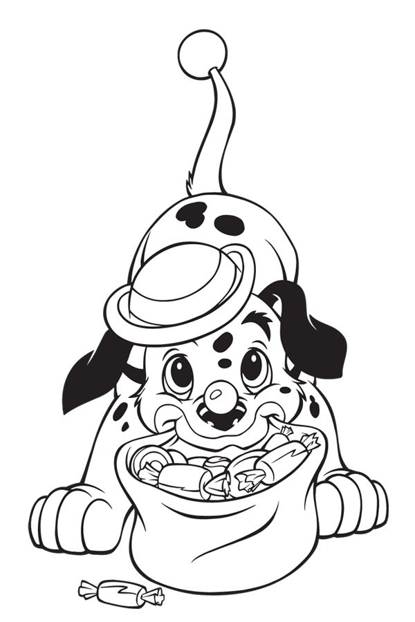 cute dalmatian having sweet coloring pages printable and coloring book to print for free find more coloring pages online for kids and adults of cute