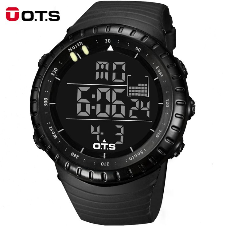 Top Brand OTS Cool Black Mens Fashion Large Face LED Digital Swimming Climbing Outdoor Man Sports Watches Christmas Boys Gift Like if you remember  #shop #beauty #Woman's fashion #Products #Watch