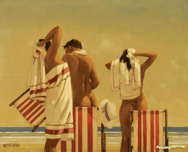 Bathers Artwork by Jack Vettriano Hand-painted and Art Prints on canvas for sale,you can custom the size and frame