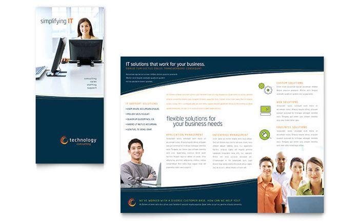 Template Desain Brosur Lipat Tiga - Download Free PDF