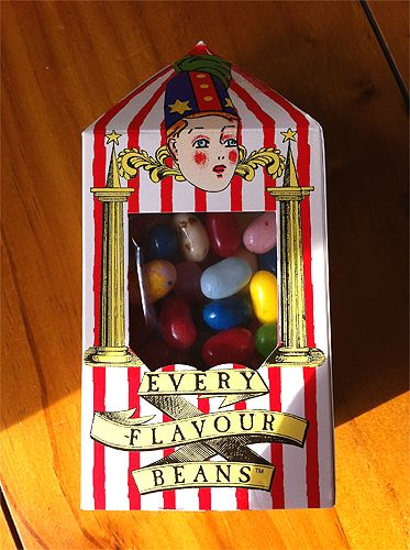 Bertie Bott's Every Flavour Beans  omg, this was so awesome, sad we can't buy it anymore in stores here :(