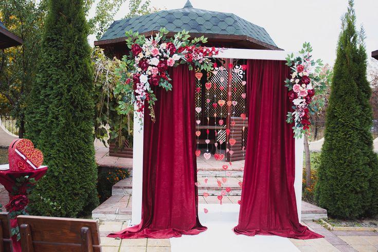 Арка в цвете МАРСАЛА   аренда ХАРЬКОВ    тел. 0630476275 MARSALA wedding arch