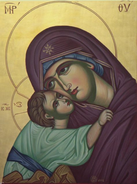 """The """"Tenderly Embracing"""" Mother of God"""