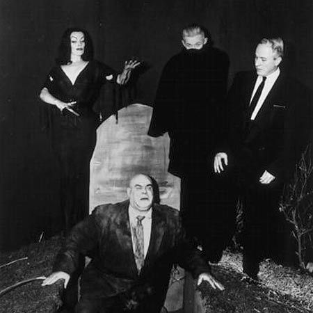 The cast of Plan 9 From Outer Space (1959)    …including Bela Lugosi's stand-in, Ed Wood's chiropractor.