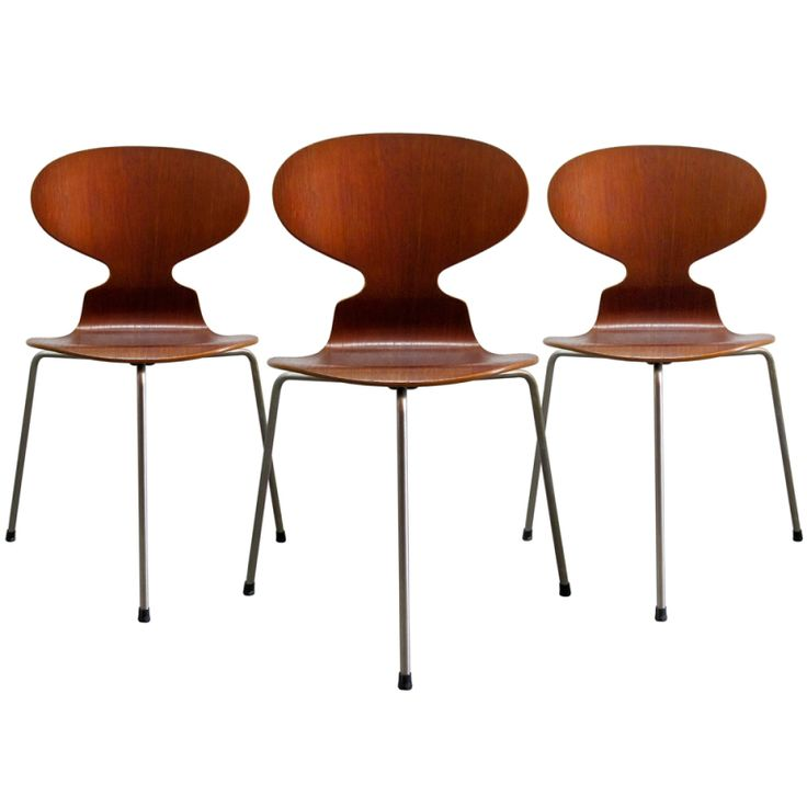 Trio of Arne Jacobsen Ant Chairs | From a unique collection of antique and modern chairs at http://www.1stdibs.com/furniture/seating/chairs/