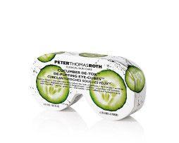 PETER THOMAS ROTH De-Puffing Eye-Cubes sind abschwellend wirkende, leicht anzuwendende flüssig-zu-Eis Eye-Cubes™ – Augen Patches mit Gurkenextrakt in Form von Eiswürfeln!  #meister_parfumerie #hamburg #pflege #anti_aging