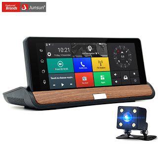 Junsun New 3G 7 inch Car GPS Navigation Bluetooth Android 5.0 Navigators Automobile with DVR Car sat nav Free maps (32787439713)  SEE MORE  #SuperDeals