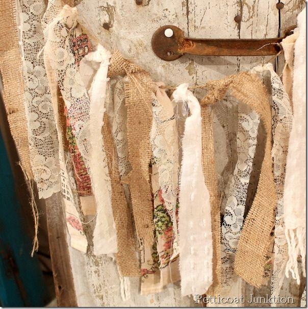 rag-garland-lace-burlap-chenille, Petticoat Junktion