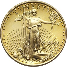 American Gold Eagle coins offer quality with a U.S. Government Guarantee. When you buy American Eagle Gold Bullion coins, you're buying gold bullion coins whose weight, content and purity are guaranteed by the U.S. government. This makes gold Eagle coins not only recognized as America's official investment-grade gold bullion, but accepted worldwide in major investment markets. Merit Gold carries fractional sizes of the American Gold Eagle.