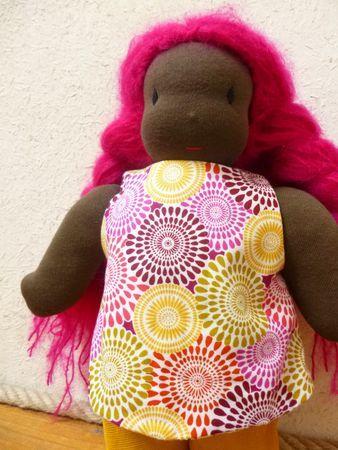 waldorf doll pink hair!