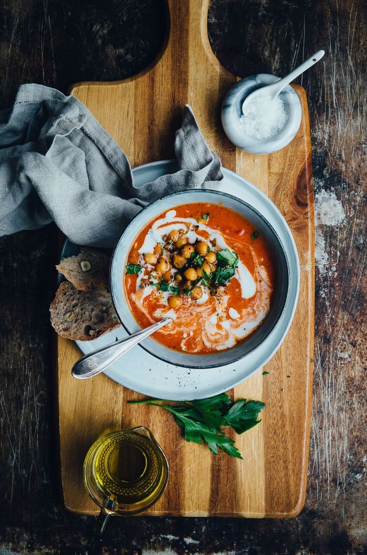 Tomato Soup with Smokey Chickpeas & Oregano | Cashew Kitchen