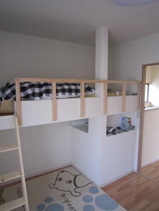 子供部屋にロフトベッドを造作