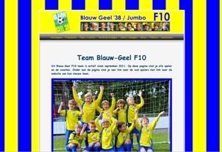 BlauwGeel voetbalteam Pieter en Floris