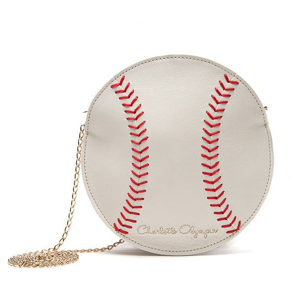 Charlotte Olympia Baseball Clutch ($395) found on Polyvore