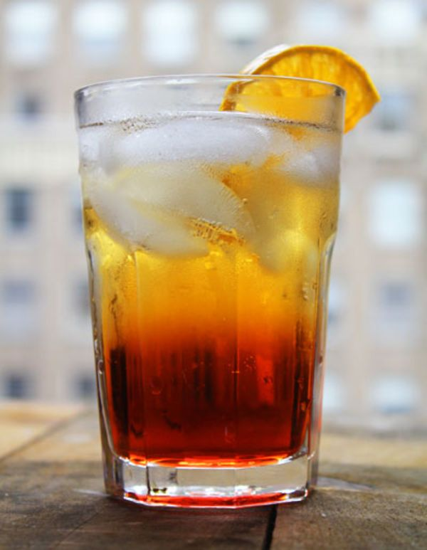 Bright red and bittersweet, this Italian classic Campari cocktail earned its name due to its popularity with American expats during prohibition.