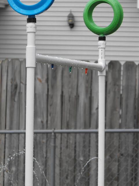 i like the idea of the circle sprinklers . . .    Kreations Done By Hand: Our DIY PVC Kid Sprinkler