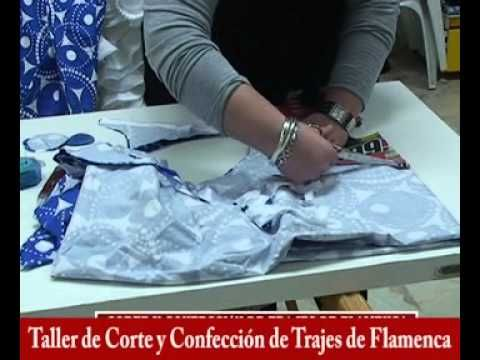 Taller de Corte y Confección de Trajes de Flamenca, Monitora Mª Dolores Ruíz Cárdenas I parte. - YouTube