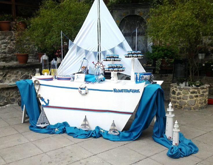 Βάπτιση καραβάκι! Baptism in navy style!