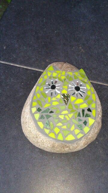 Glas mosaik på sten