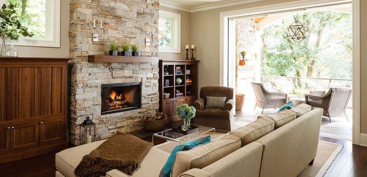 Fireplace artificial living room traditional with dark wood floor built-in cabinets sisal rug