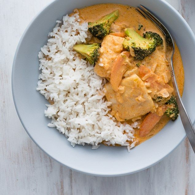 Start your week with this creamy fish curry, yum!