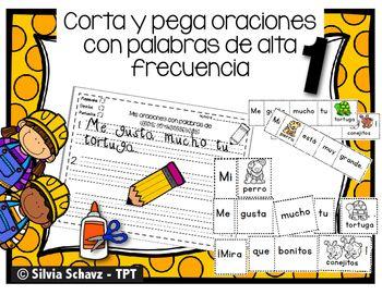 Este paquete est compuesto de 30 oraciones cortas diseadas para practicar palabras de uso frecuente en kindergarten y primer grado.Las oraciones vienen distribuidas en 10 pginas a color y 10 pginas en blanco y negro. Los estudiantes leen las tres oraciones.