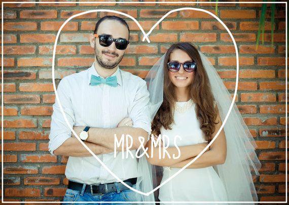 Foto Hochzeit Danke Karte coole DIY druckbare digitale Download Schablonen