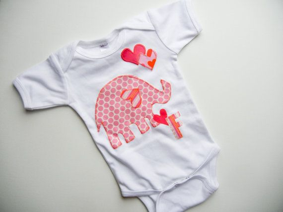 Girls Elephant Bodysuit Toddler Clothing by eleanorestreasures, $28.00