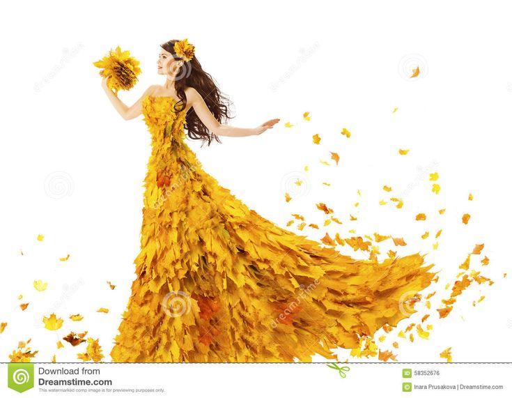 woman-autumn-fashion-dress-fall-leaves-model-girl-yellow-wedding-bride-gown-white-creative-beauty-58352676.jpg (1300×1010)