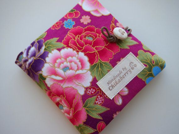 Sanitary Pouch  Kimono Pattern PURPLE 2  by Chikaberry on Etsy, $12.00