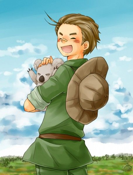 30 Day Hetalia Challenge, Day 13 - Character You'd Go Camping With: Australia. He's optimistic and probably knows all about the wilderness.